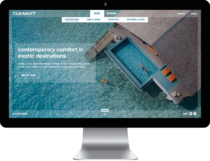 Club Med approached RADAR to create a brand website to position Club Med as a premium brand
