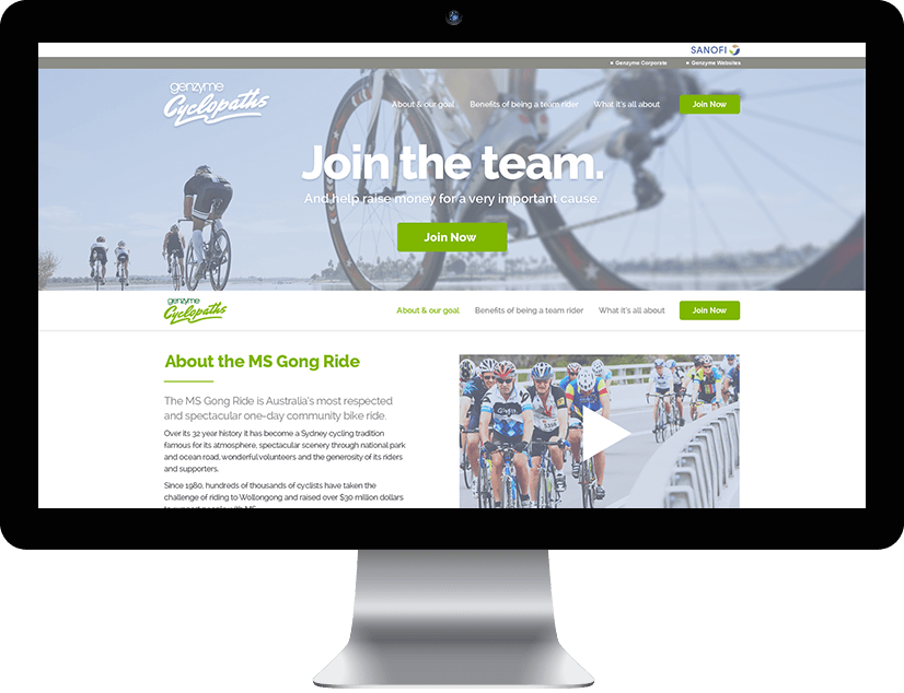 RADAR designed and built a website to help drive a corporate fundraising event