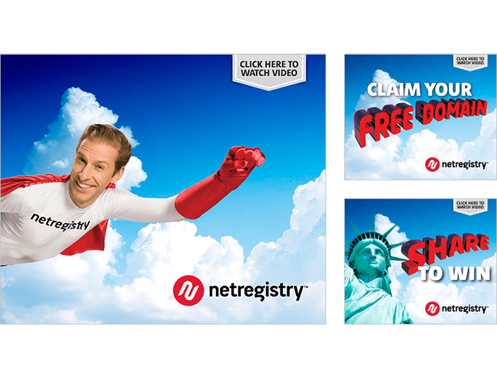 A national advertising campaign for Netregistry by RADAR, including TV, Outdoor and online advertising.