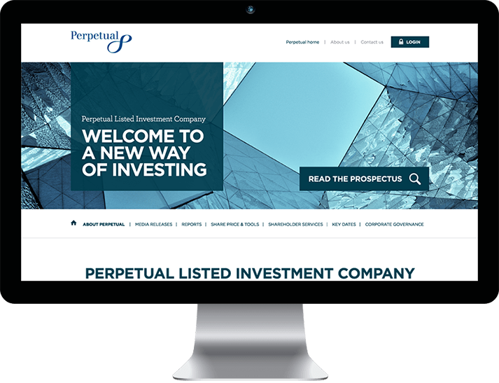 Perpetual Listed Investment Company engaged RADAR to develop creative and product launch branding