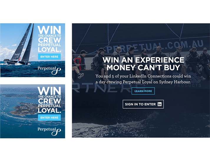 Perpetual approached RADAR to design and develop an immersive website experience for their Sydney to Hobart promotional campaign