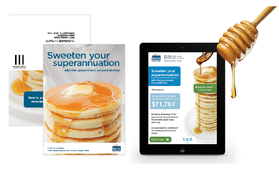 REST Industry Super engaged  RADAR create an Integrated Direct Mail Campaign