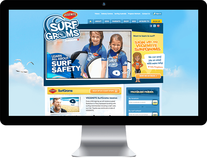 For Surfing Australia RADAR developed an engaging, interactive website with custom features and a powerful social platform